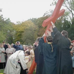 Poświęcenie placu (11.10.03)