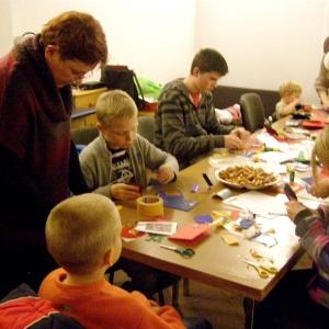 Kartki świąteczne w wykonaniu dzieci-5