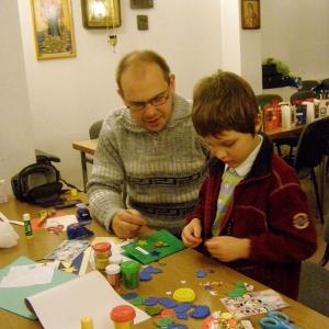 Kartki świąteczne w wykonaniu dzieci-6