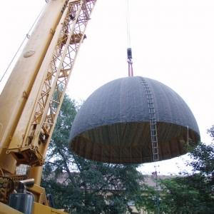 Budowa i ustawienie kopuły (06-07.2006)-10
