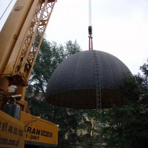 Budowa i ustawienie kopuły (06-07.2006)-9