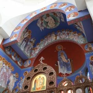 Ikonopisanie polichromii nad prezbiterium-15