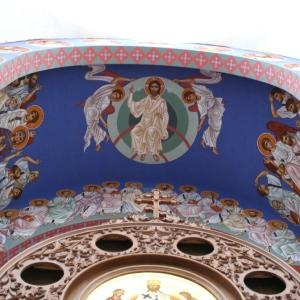 Ikonopisanie polichromii nad prezbiterium-6