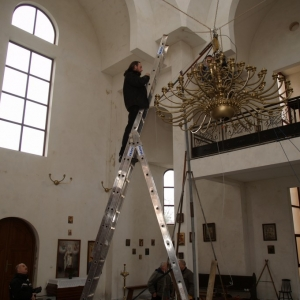 Wieszanie panikadiła (31.12.2009)-2
