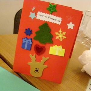 Kartki świąteczne w wykonaniu dzieci-2