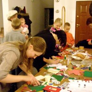 Kartki świąteczne w wykonaniu dzieci (7.12.2012)