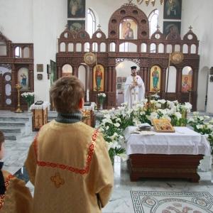 Nabożeństwo żałobne za ofiary katastrofy w Smoleńsku (11.04.2010)-1