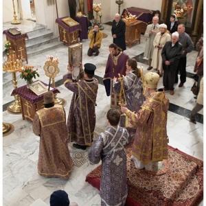 Pierwsza liturgia w nowej cerkwi (2009)-1