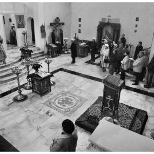 Pierwsza liturgia w nowej cerkwi (2009)-2