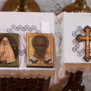 Uroczystość przekazania ikon z cząstkami relikwii (15.01.2020)